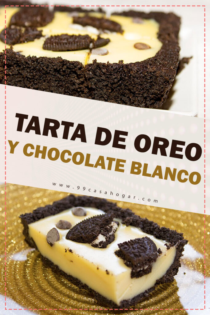 TARTA DE OREO Y CHOCOLATE BLANCO